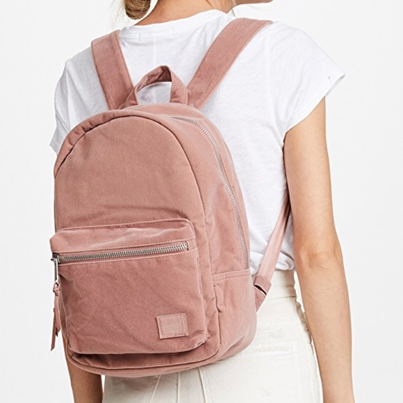 największa zniżka dostać nowe aliexpress Herschel Grove Pink Velvet Backpack